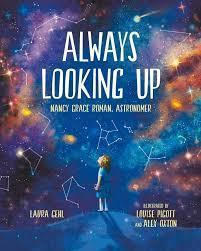 dark cover with girl looking into space