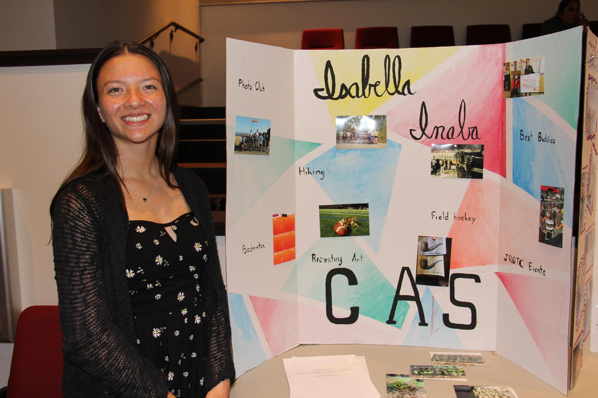 Image of IB Student - Isabella - showcasing her Creativity, Activity & Service experiences