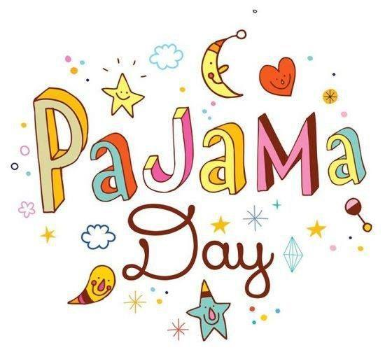 letters that say pajama day