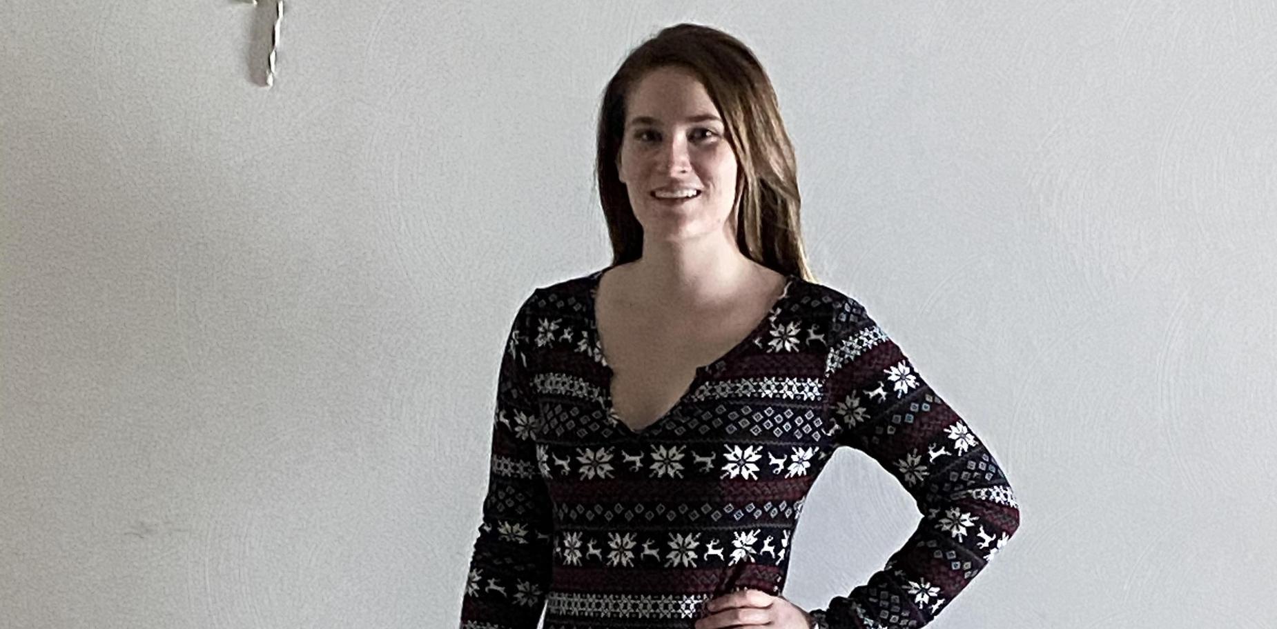 girl in holiday attire