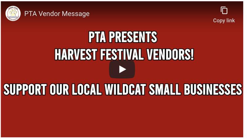 Screenshot of PTA Harvest Festival video