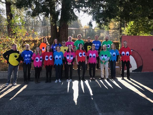 Seven Hills Staff Halloween Pac Man