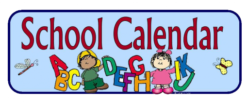 clipart of school calendar