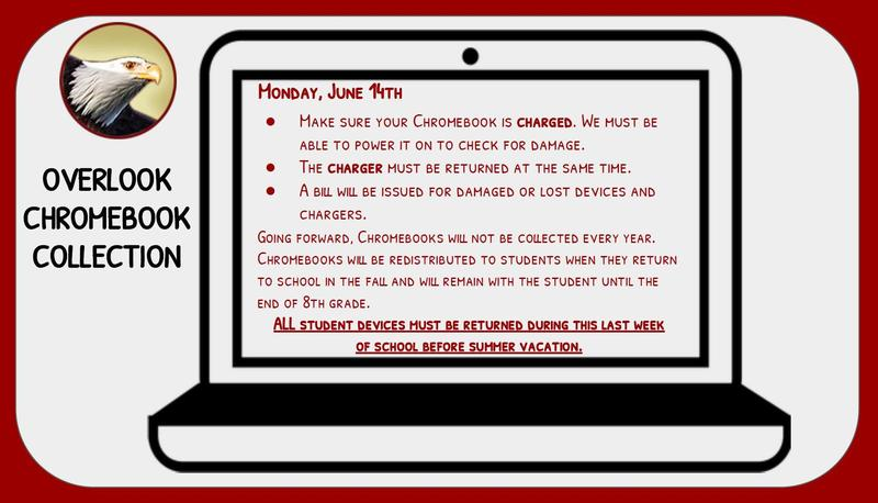 OMS Chromebook collection information for in-person students