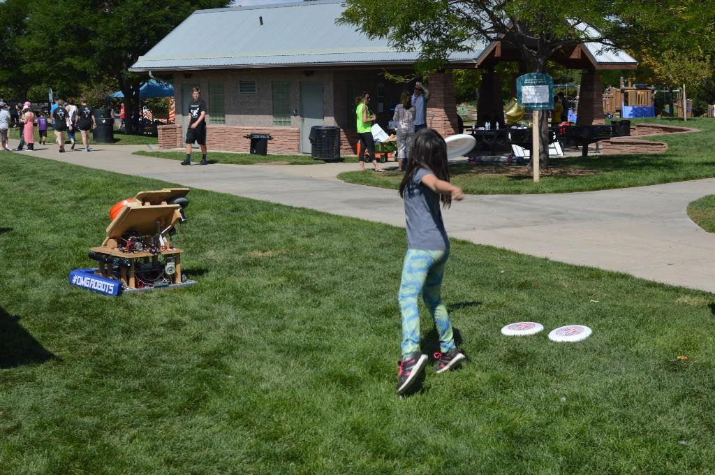 The Robotics Team robot is put to the test at the Blast Off event.
