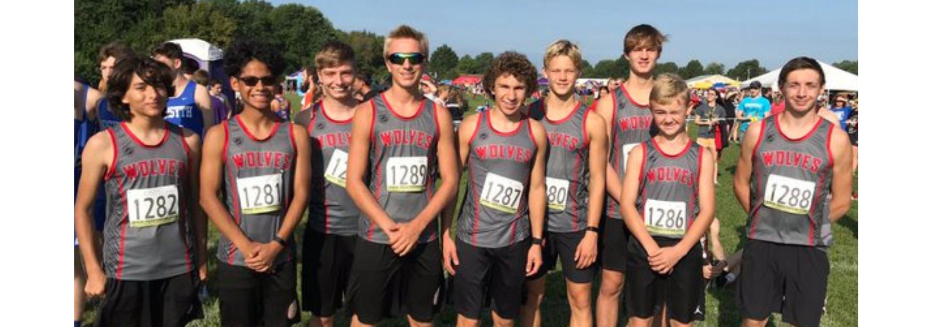 Boys cross country team