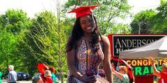 senior girl in graduation cap