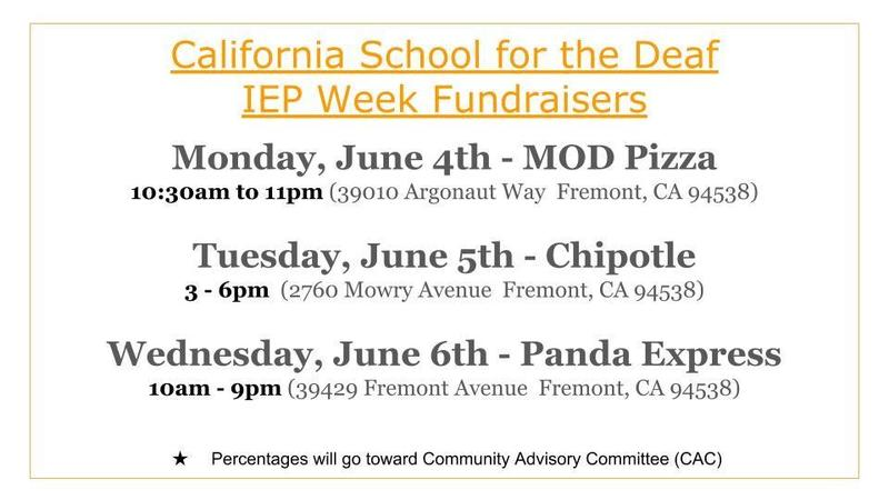 Eat Out! Support CA School for the Deaf