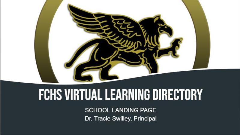 FCHS Virtual Learning Directory-School Landing Page