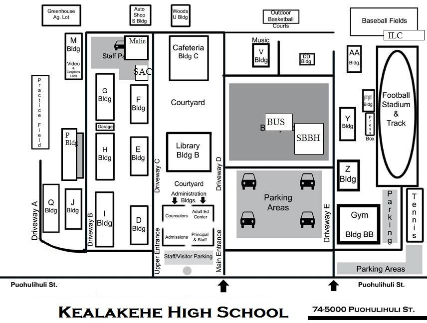 Red Mountain High School Campus Map.Kealakehe High School