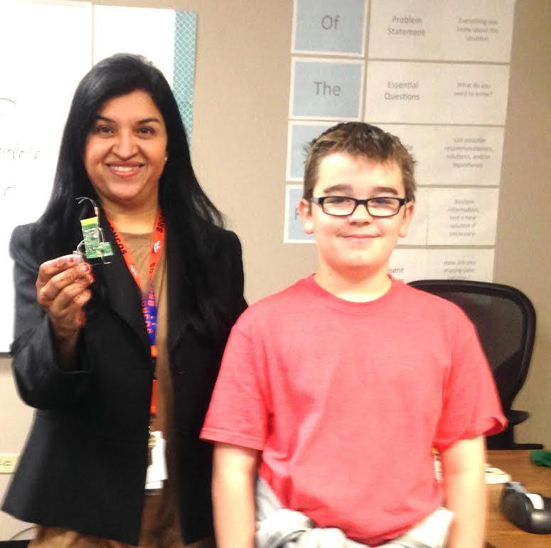 Mrs. Basu receives creative gift from student