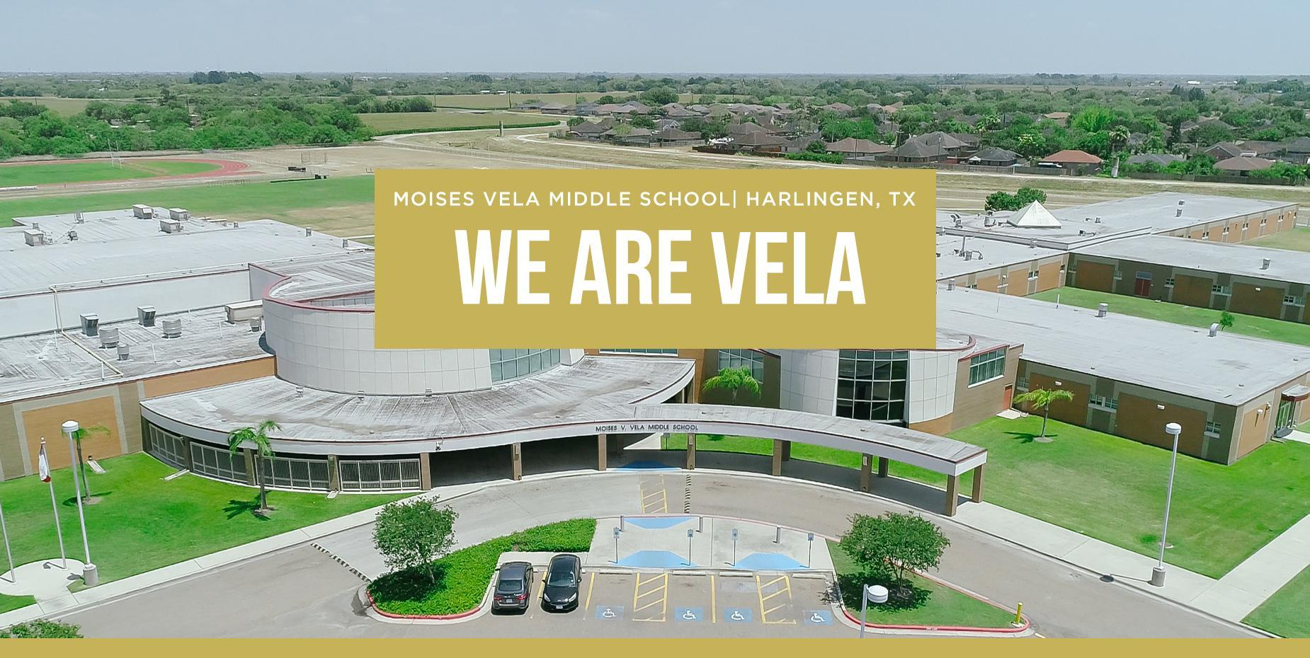 Aerial photo of Vela Middle School with
