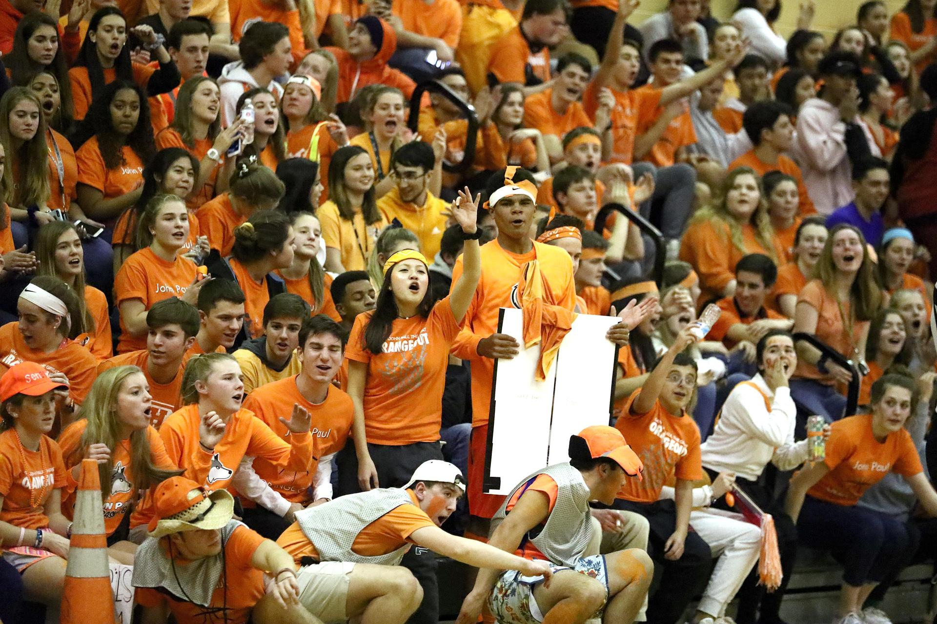 Annual Orange out in the gym