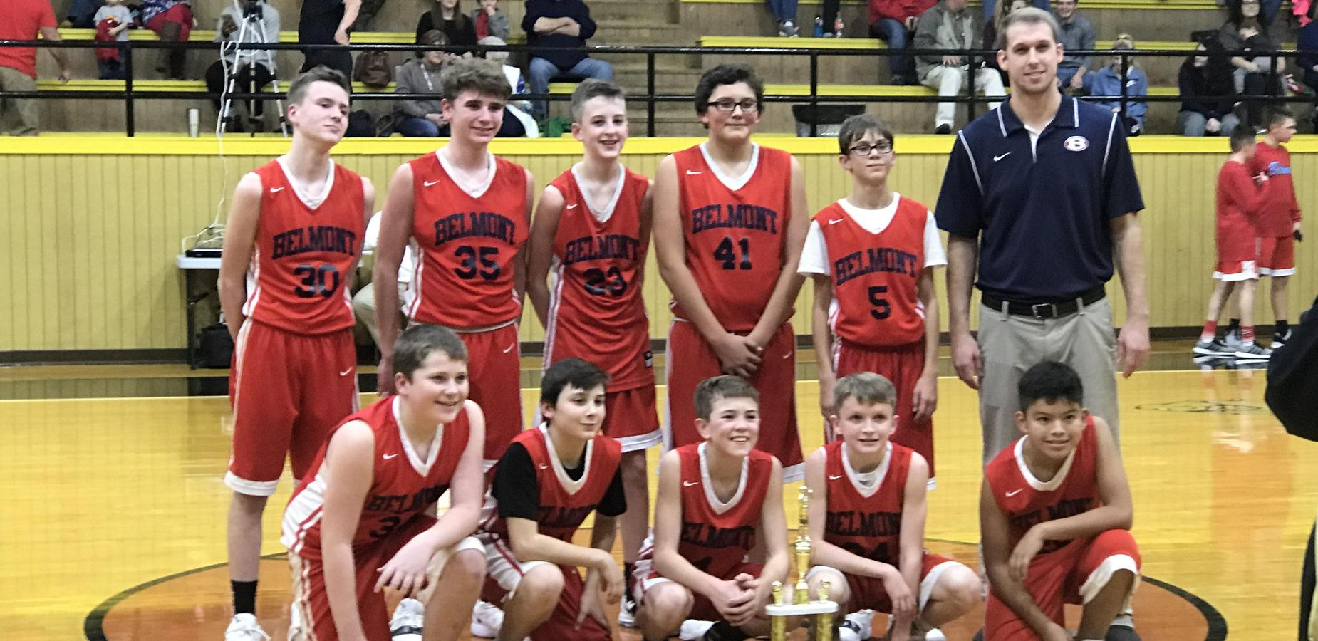 Belmont Boys win 7th Grade County Tournament