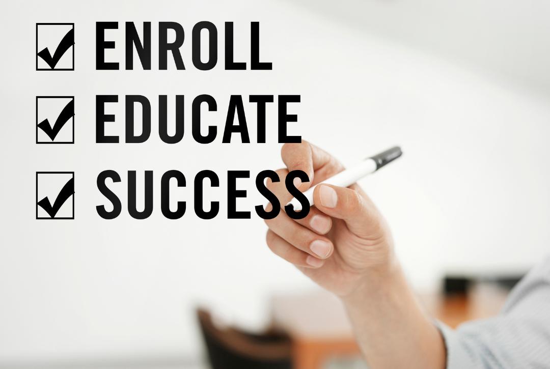enroll educate success