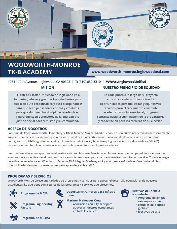 Spanish School Information Sheet