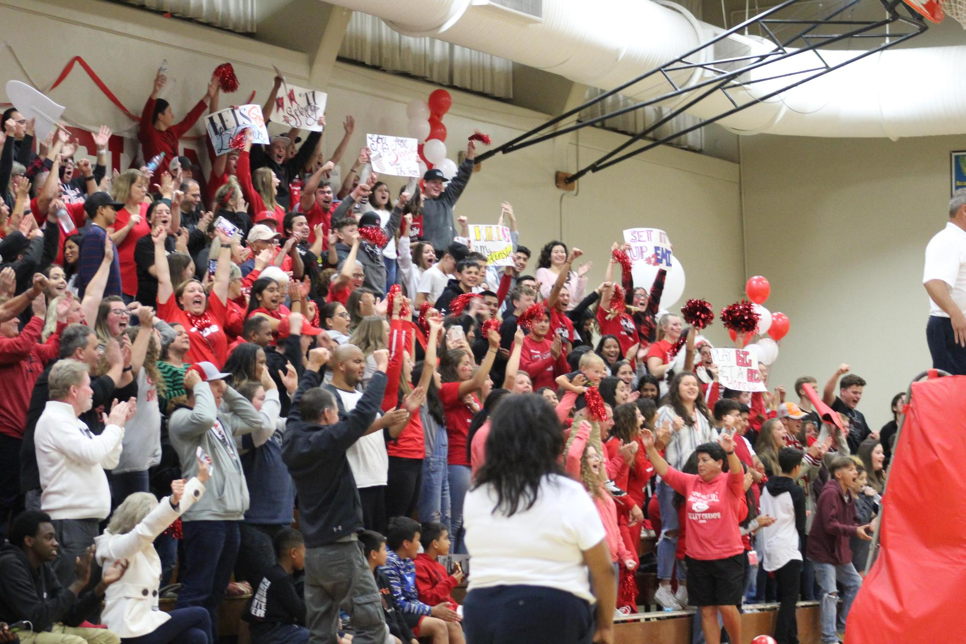 Fans at our State Playoff game against Vacaville Christian
