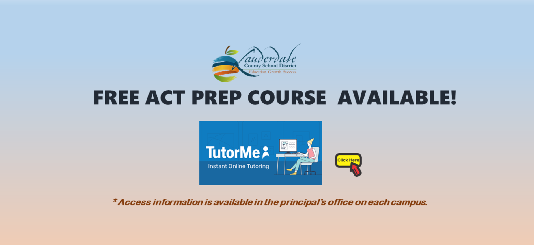 Free ACT Prep Course Available Graphic