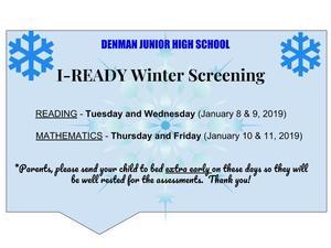 Denman I-READY announcement