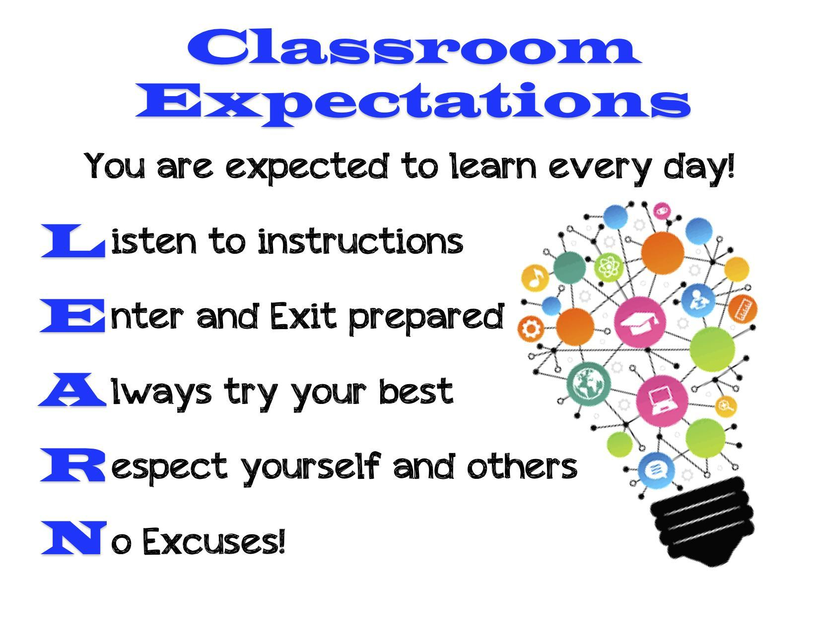 Classroom Expectations – Discipline Information – Elmore Park Middle School