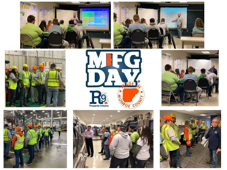 Collage of photos from Manufacturing Day