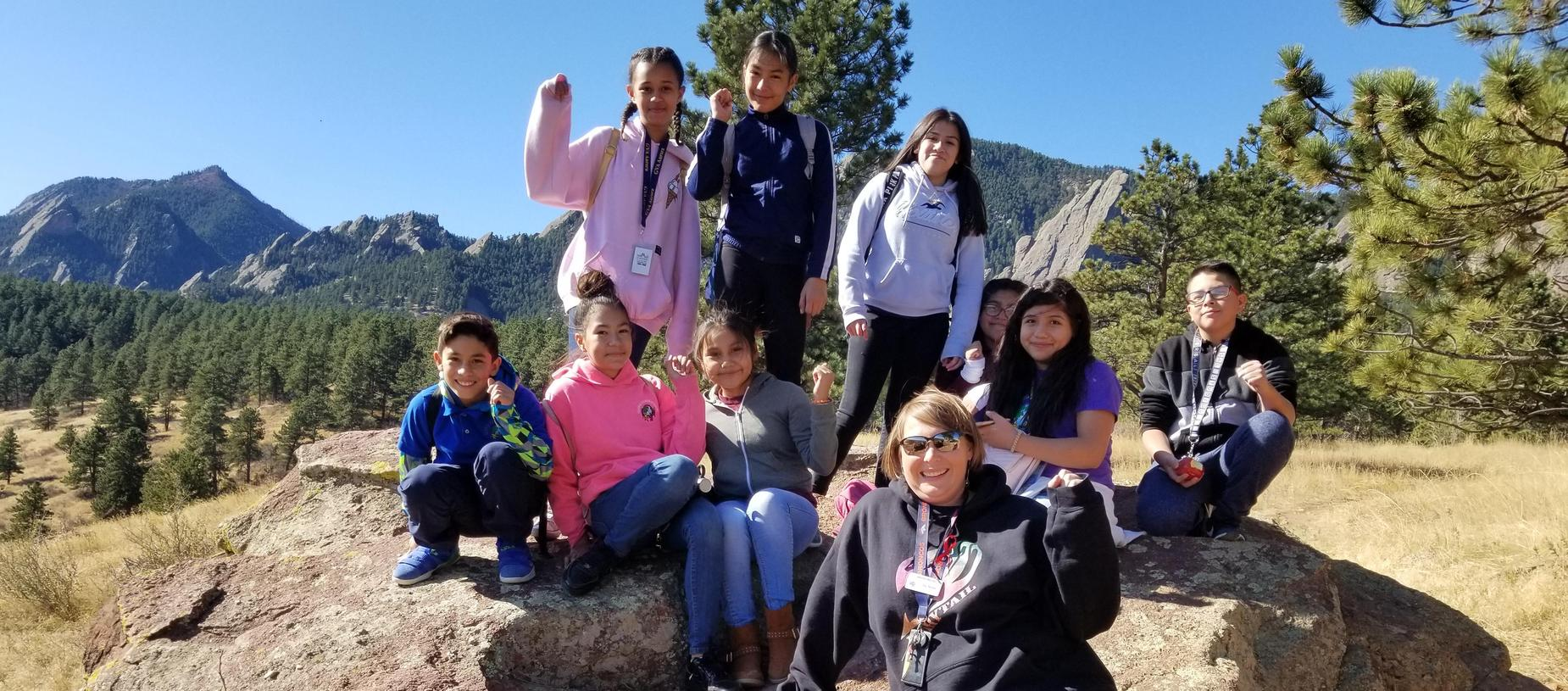 Middle schoolers at Chautauqua Park in Boulder