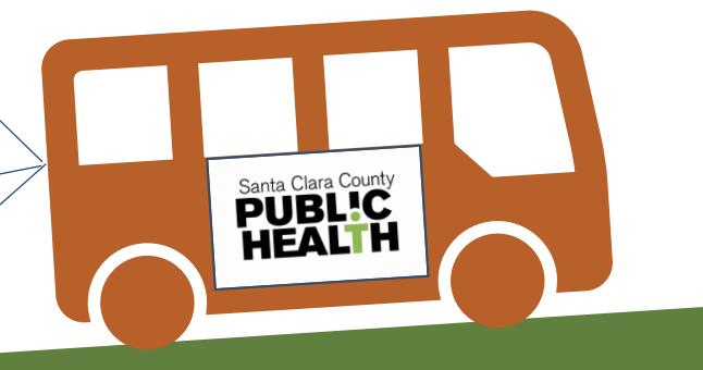 Public Health department bus