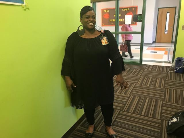 HRMS staff member dressed in black for Blackout Day