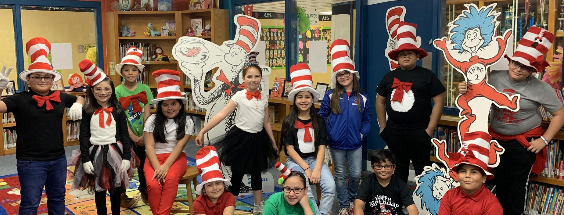 Fifth graders celebrate Read Across America