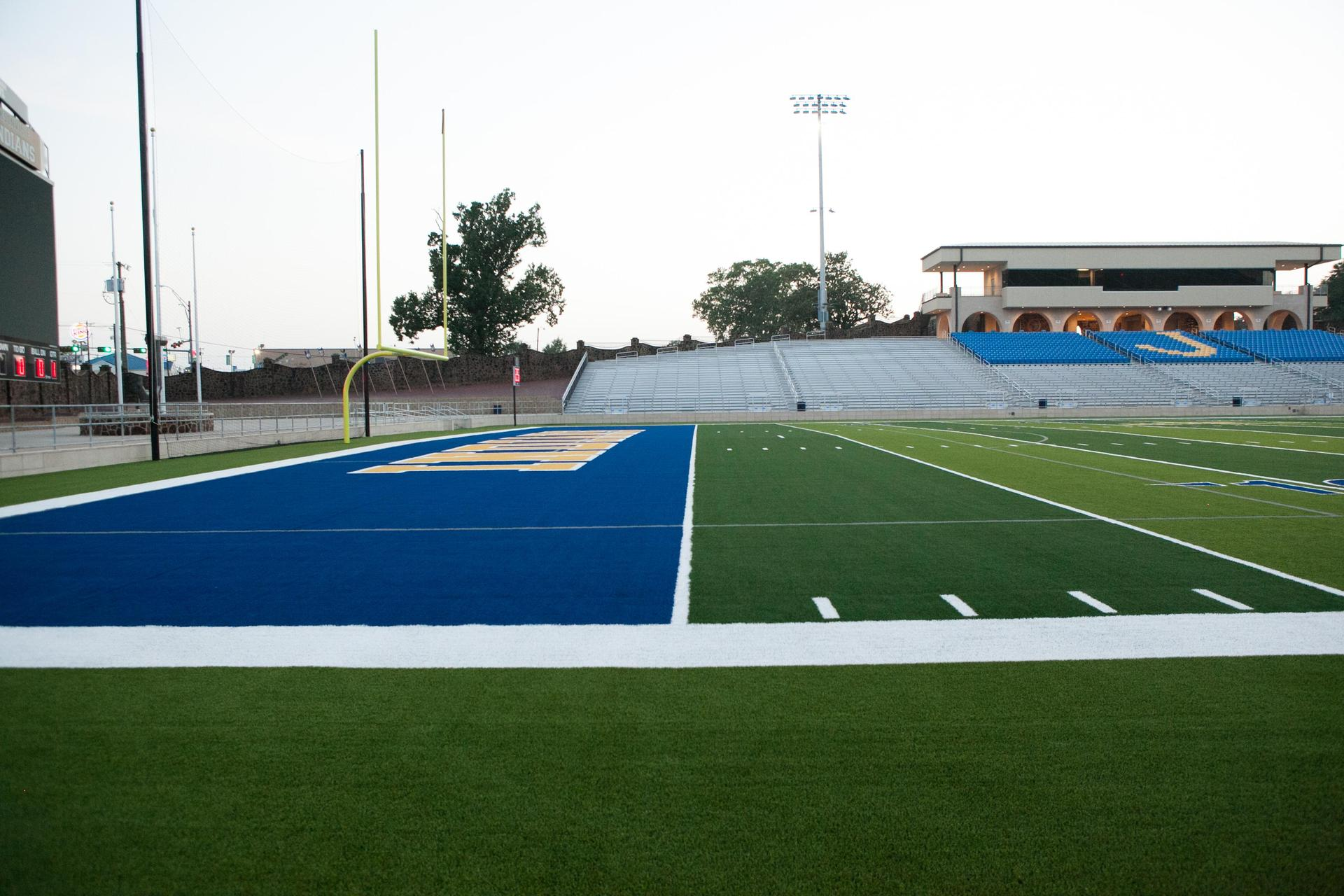 home side view from field
