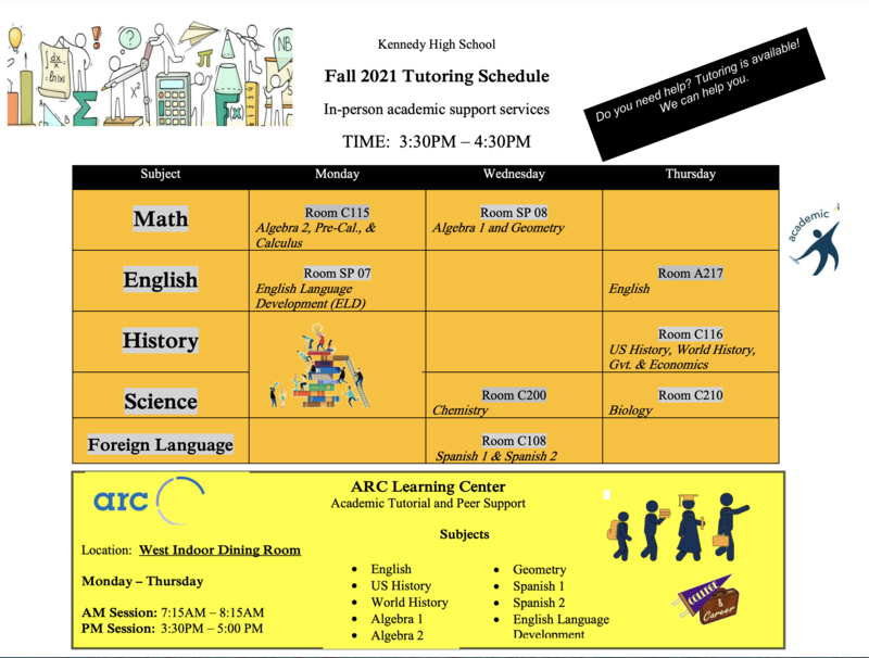 Tutoring Hours and Information Fall 2021 Featured Photo