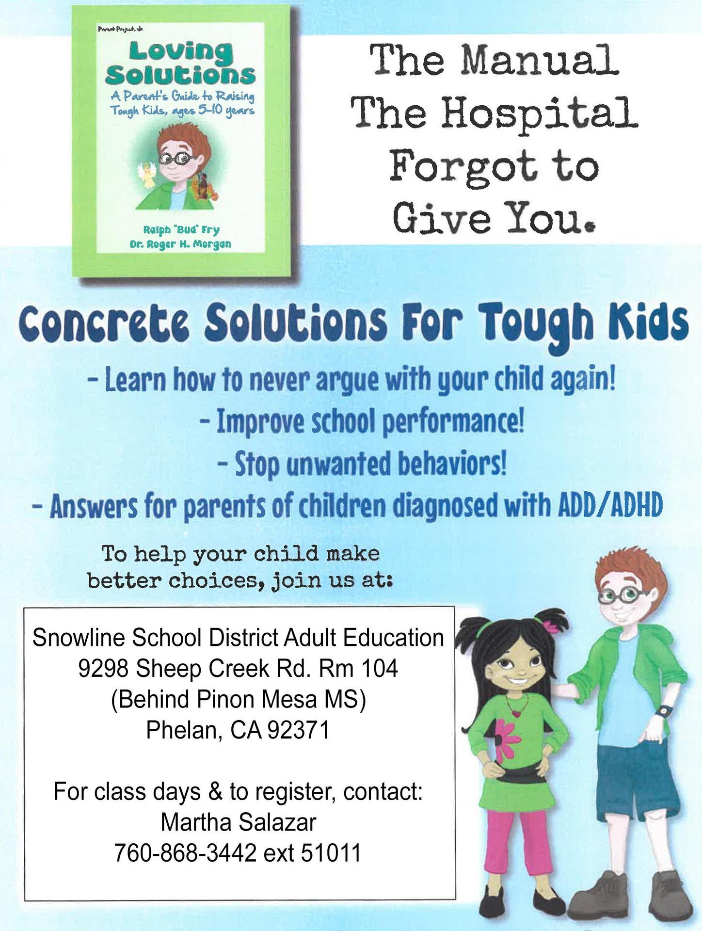 Parent Resources - District Departments - Snowline Joint Unified