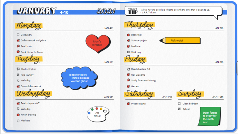 Virtual Resources to Stay Organized