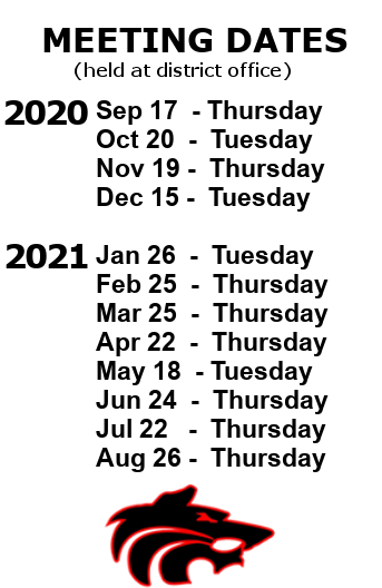 School Board Meeting Dates 2020-21