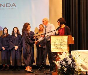 Gananda's Math National Honor Society Induction Ceremony November 2018