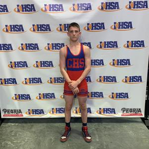 Jake Schwartz, CHS freshman, competed in the State wrestling tournament