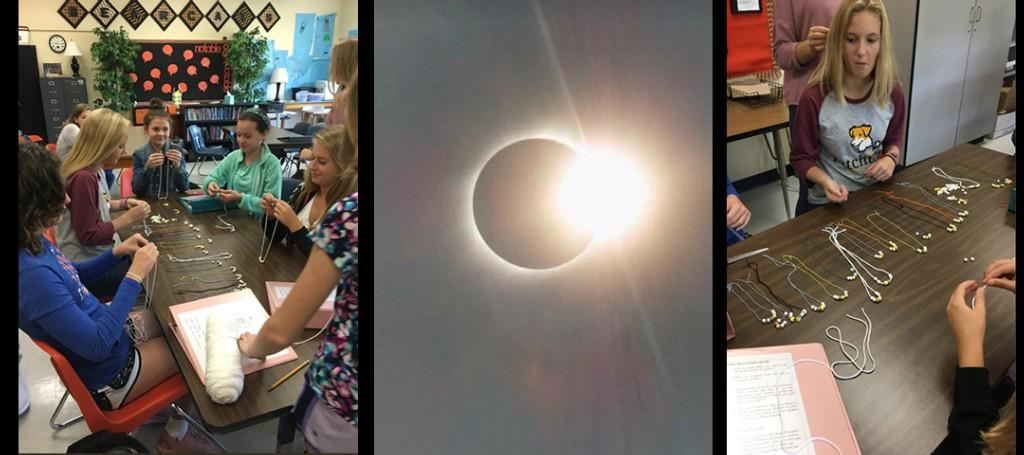 VMS Student Create Solar Eclipse Jewelry