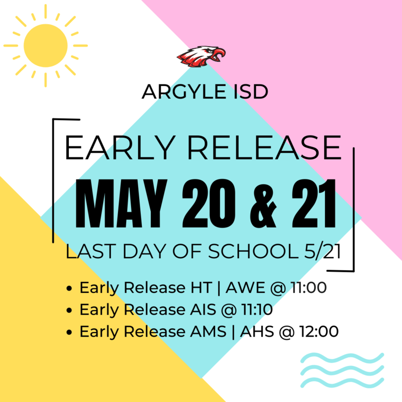 Early Release May 20-21 at 11:00