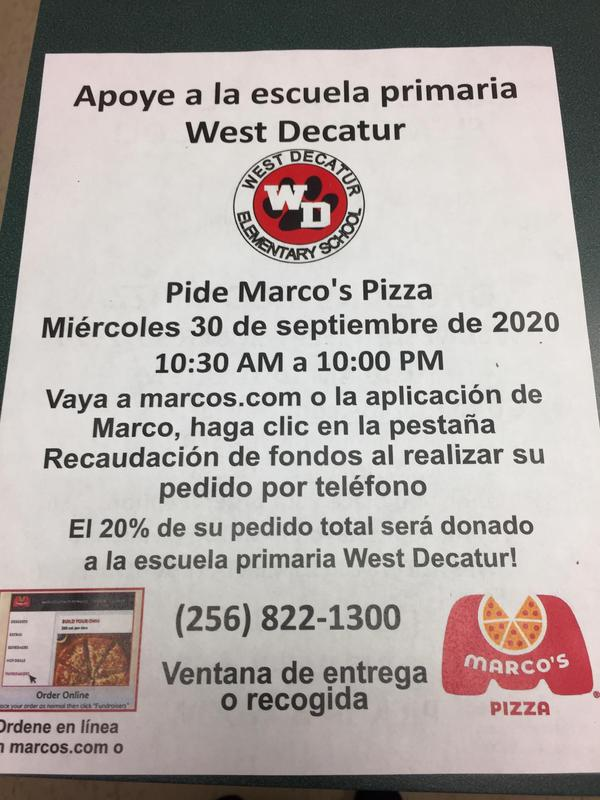 Support WD: Order Marco's Pizza Featured Photo