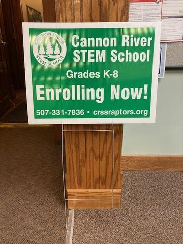 Cannon River STEM School Yard Sign