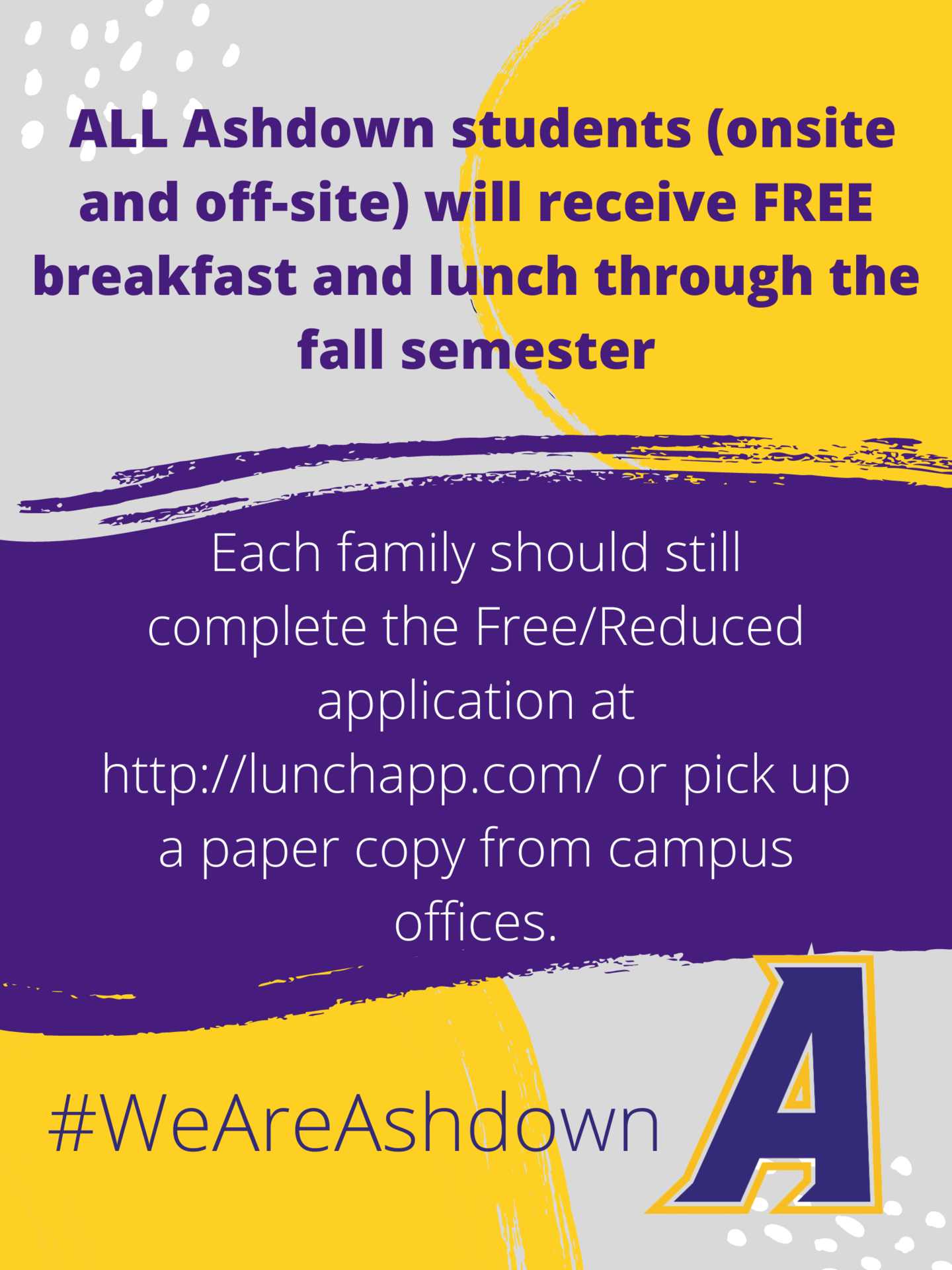 All students eat free for fall semester