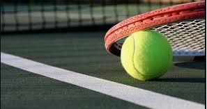 tennis racket, ball