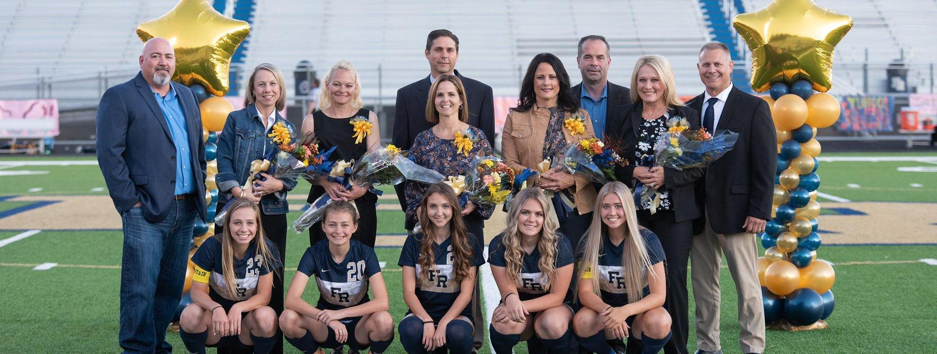 Senior Night for FRSH Girls Soccer.