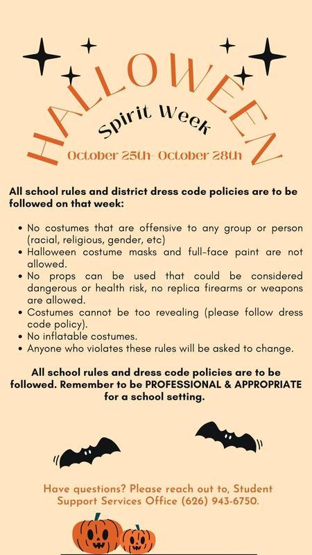 Halloween Spirit Week- Dress Code Guidelines Featured Photo
