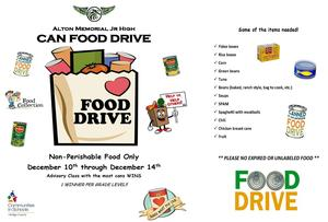 AMJH Canned Food Drive