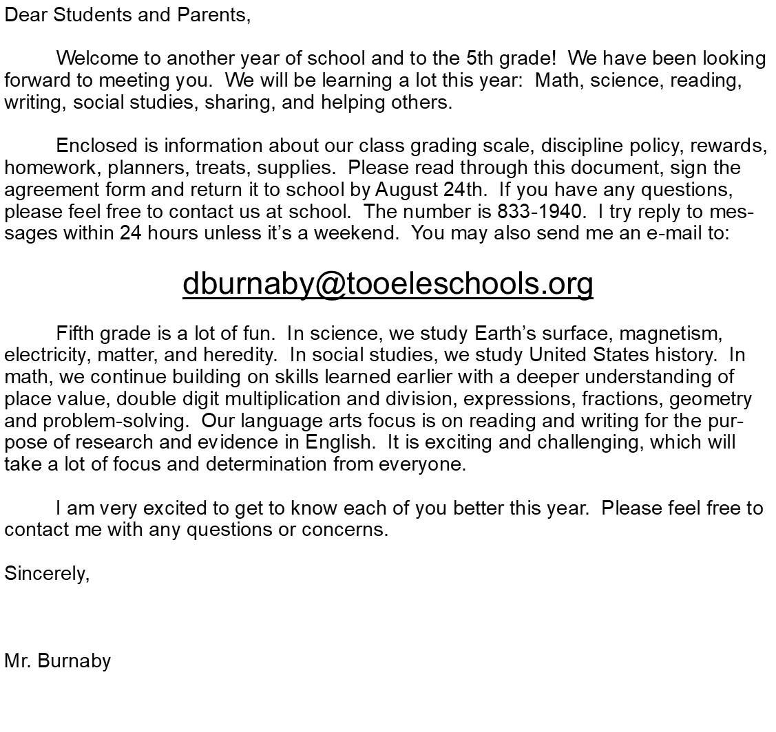 Disclosure Letter Page 1