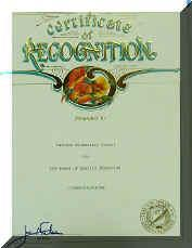 Letter of Recognition