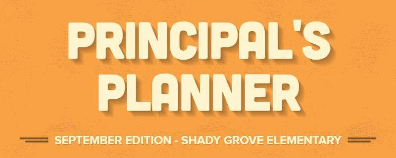 Principal's Planner - September Edition Thumbnail Image