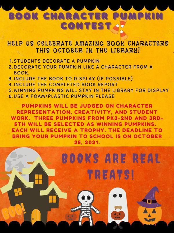 Pumpkin Book Character Contest Deadline Extended Featured Photo