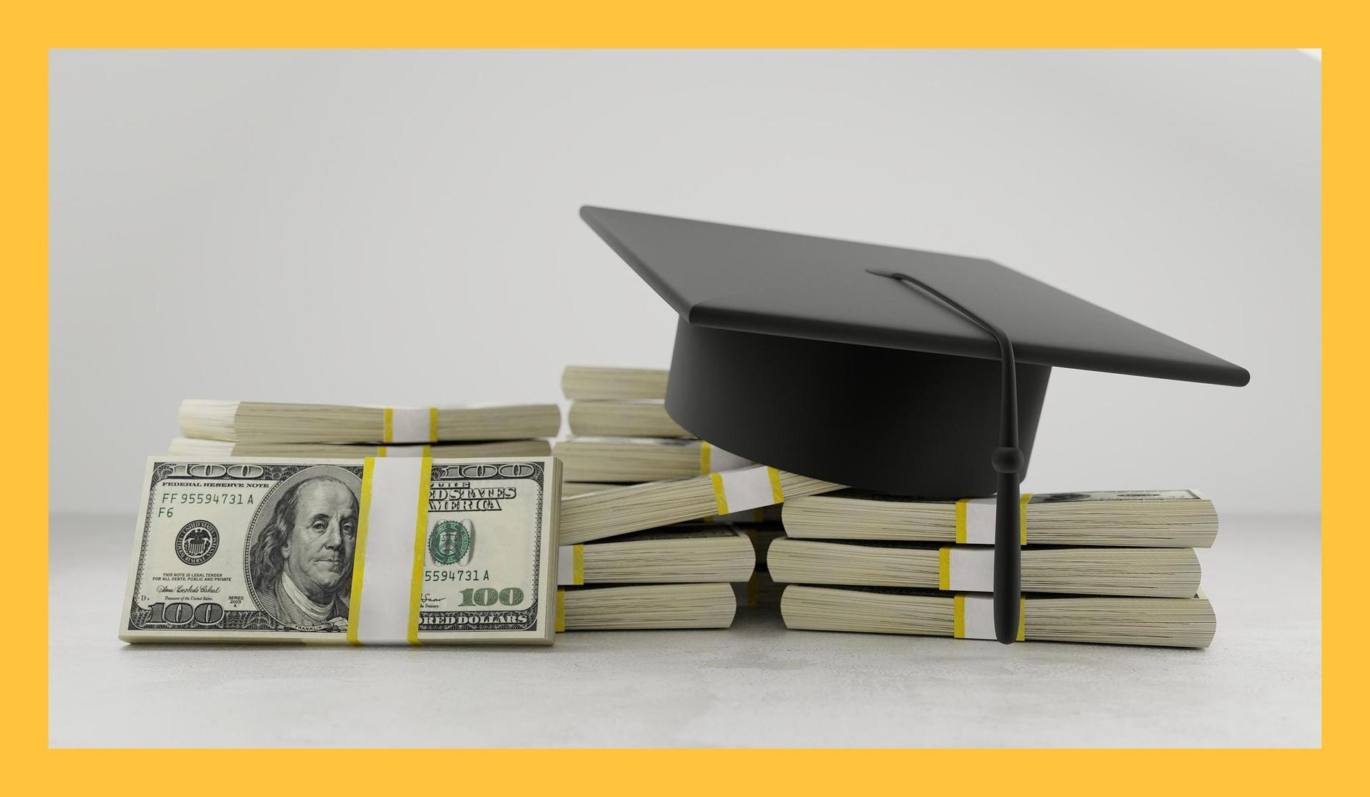 Image of Graduation Cap and money